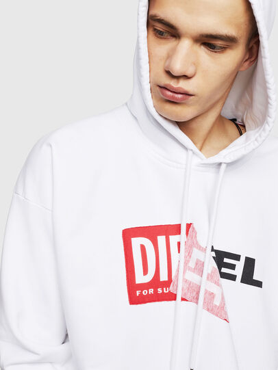 Diesel - S-ALBY, Blanc - Pull Cotton - Image 3