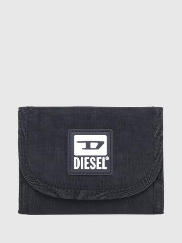 Micro portefeuille en toile délavée