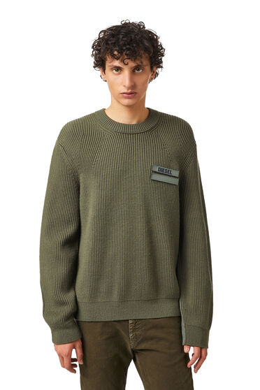 Pull en laine bicolore