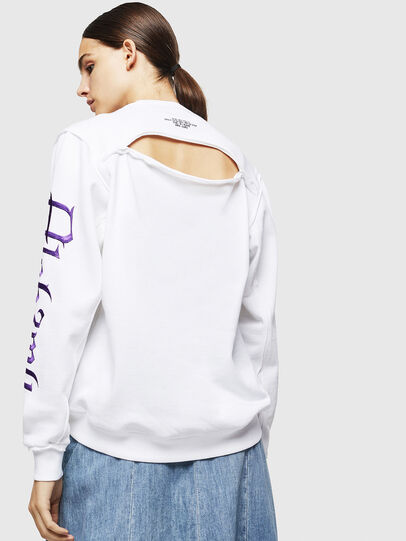 Diesel - F-LYANYDY-A, Blanc - Pull Cotton - Image 2