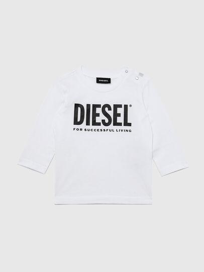 Diesel - TJUSTLOGOB ML, Blanc - T-shirts et Hauts - Image 1