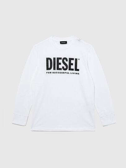 Diesel - TJUSTLOGO ML, Blanc - T-shirts et Hauts - Image 1