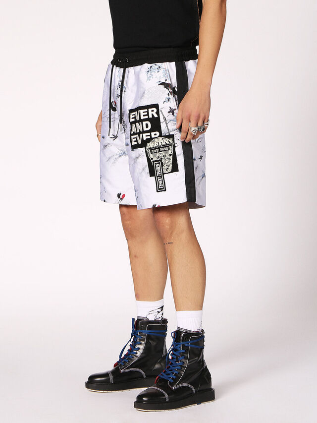 Diesel P-GROUND, Blanc - Shorts - Image 3