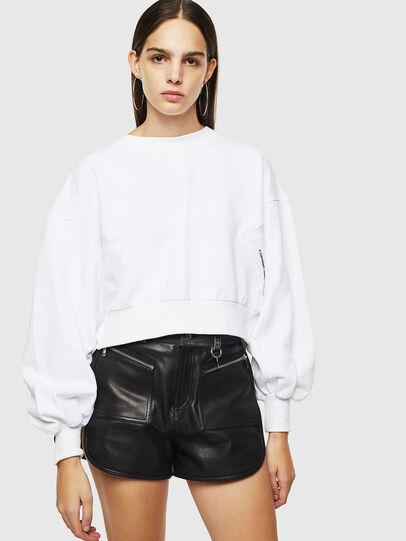 Diesel - F-MONDY, Blanc - Pull Cotton - Image 1