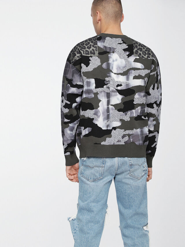 Diesel - K-CAMOU-E, Vert Militaire - Pull Maille - Image 2