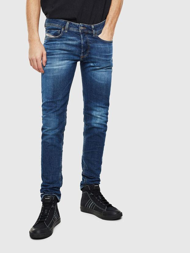 Sleenker 0097T, Bleu Foncé - Jeans