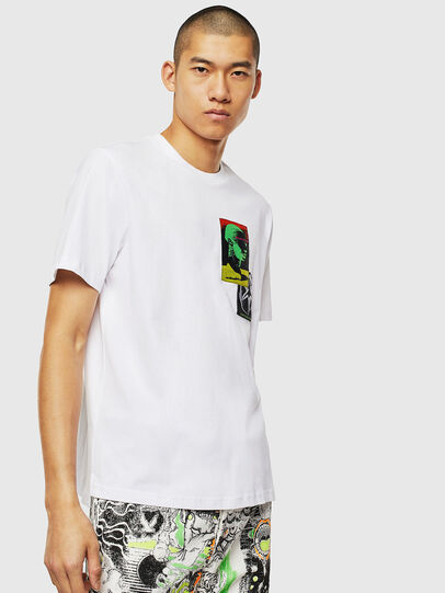 Diesel - T-JUST-SLITS-J18, Blanc - T-Shirts - Image 1