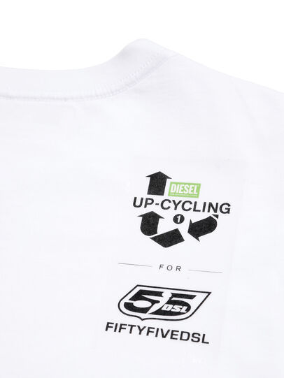 Diesel - D-5055-W, Blanc - T-Shirts - Image 5