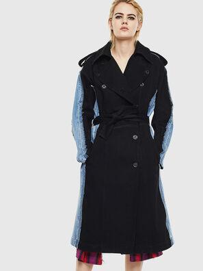 DE-PRAVU, Noir/Bleu - Vestes en denim