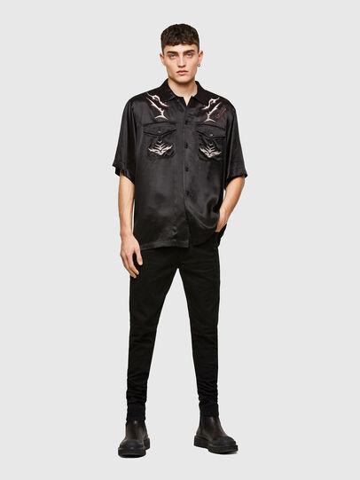 Diesel - S-MITCH, Noir - Chemises - Image 7