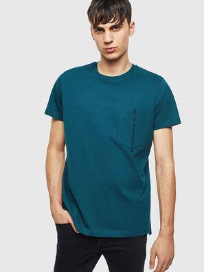 T-RUBIN-POCKET-J1, Vert Foncé - T-Shirts