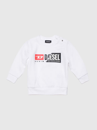 Diesel - SGIRKCUTYB, Blanc - Pull Cotton - Image 1