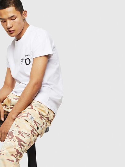 Diesel - T-HOVER, Blanc - T-Shirts - Image 4