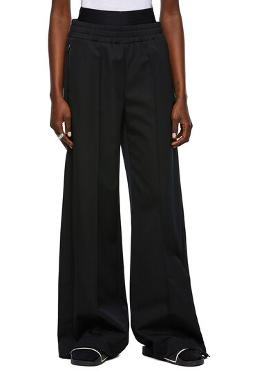 Pantalon compact avec fentes latérales