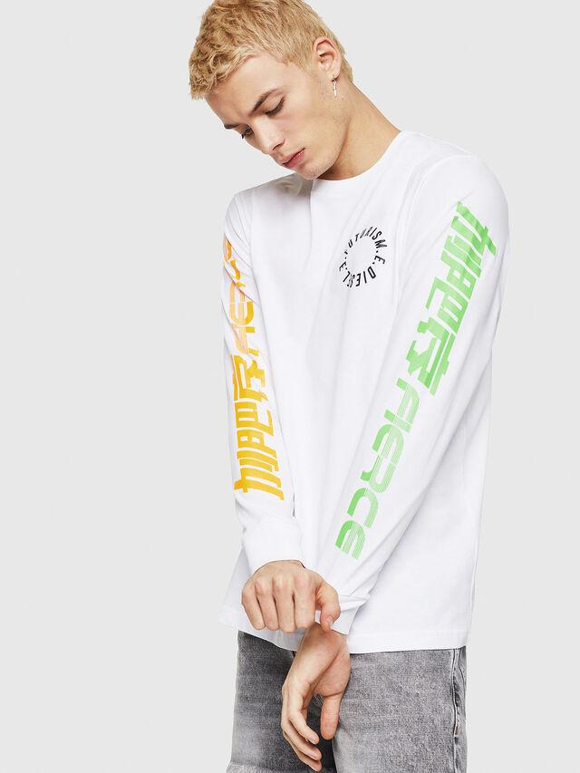 Diesel - T-JUST-LS-Y1, Blanc - T-Shirts - Image 1
