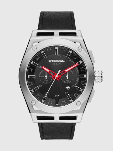 Montre Timeframe chronographe en cuir noir