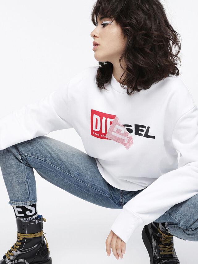 Diesel - F-SAMY-FL, Blanc - Pull Cotton - Image 3