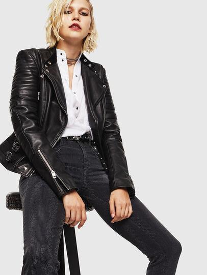 Diesel - D-Ollies JoggJeans 0093H, Noir/Gris foncé - Jeans - Image 4