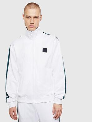 S-CORTESS, Blanc/Vert - Pull Cotton