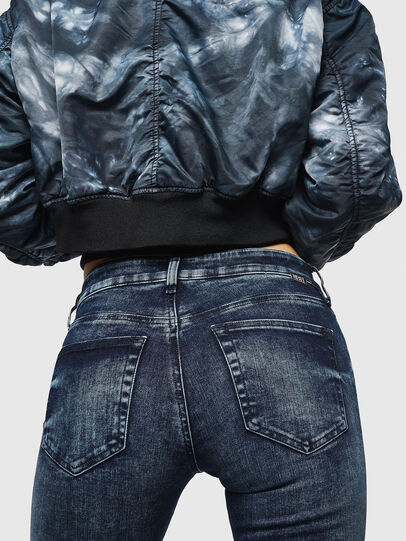 Diesel - Slandy Zip 069GW, Bleu Foncé - Jeans - Image 3