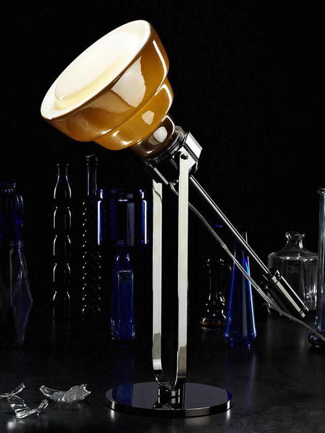 Diesel - GLAS TAVOLO CROMO, Gris argenté - Éclairages De Table - Image 2