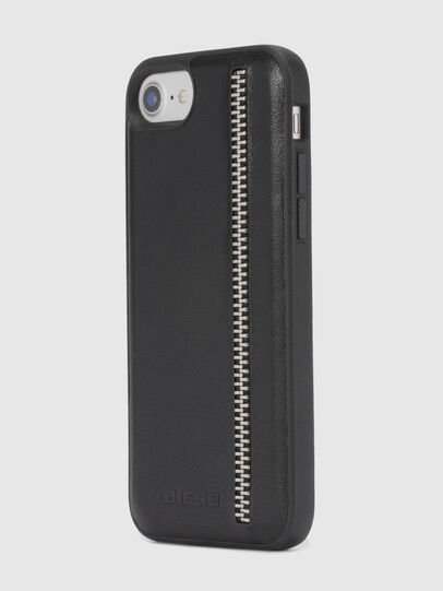 Diesel - ZIP BLACK LEATHER IPHONE 8 PLUS/7 PLUS/6s PLUS/6 PLUS CASE, Noir - Coques - Image 6