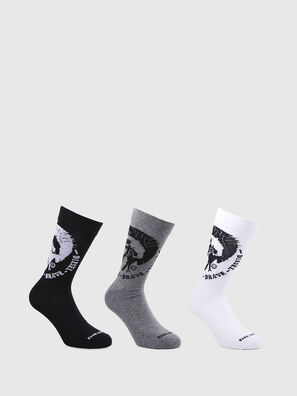 SKM-RAY-THREEPACK, Polychrome/Noir - Chaussettes