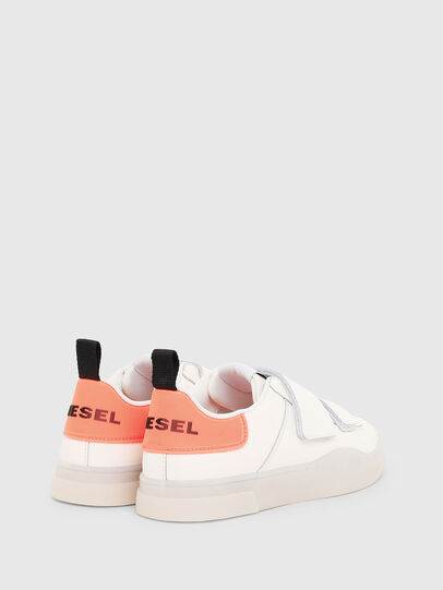 Diesel - S-CLEVER LOW STRAP W, Blanc/Rose - Baskets - Image 3