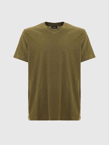 T-shirt en coton flammé