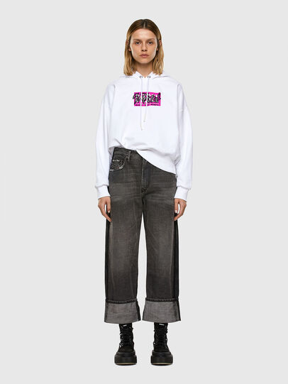 Diesel - F-MAGDALENA-E1, Blanc - Pull Cotton - Image 4