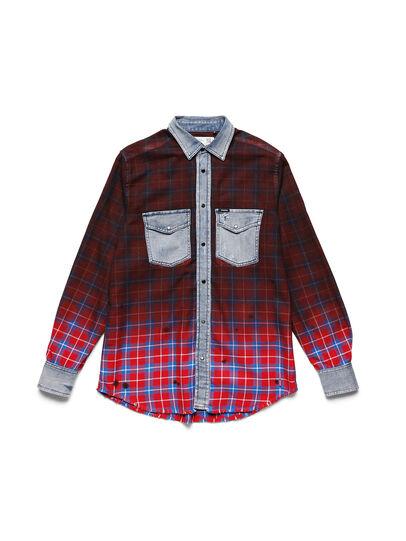 Diesel - D-DEEPCHECK-B, Rouge - T-Shirts - Image 1