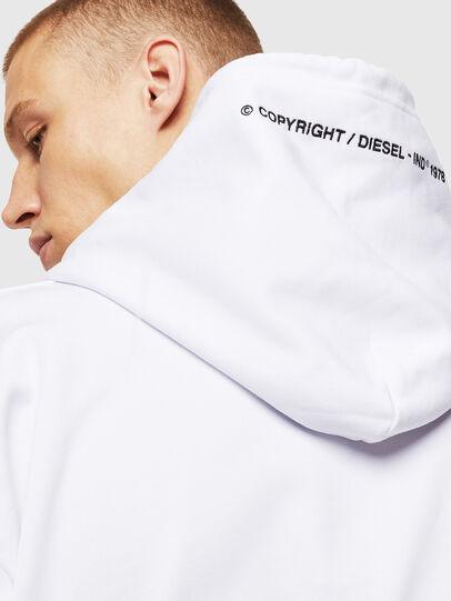 Diesel - S-ALBY-COPY-J1, Blanc - Pull Cotton - Image 5