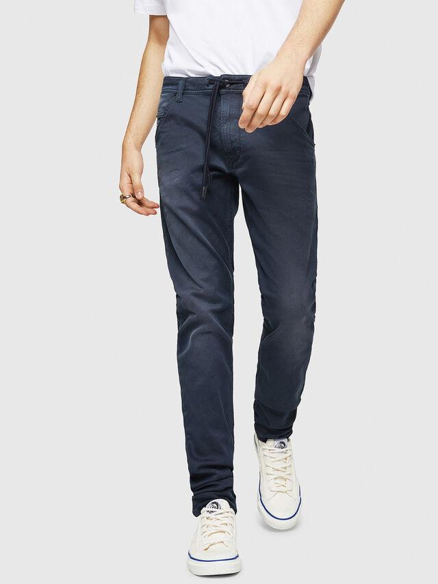 Diesel - Krooley Long JoggJeans 0670M, Bleu Foncé - Jeans - Image 1