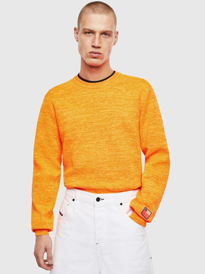 Diesel - K-SPECIALS, Orange - Pull Maille - Image 4