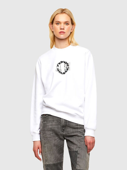 Diesel - F-ANG-R30, Blanc - Pull Cotton - Image 1