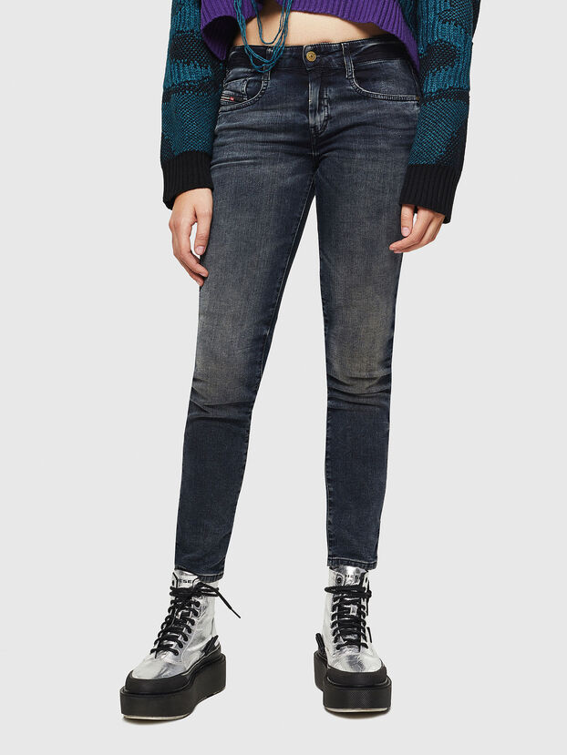 D-Ollies JoggJeans 069GD, Bleu Foncé - Jeans