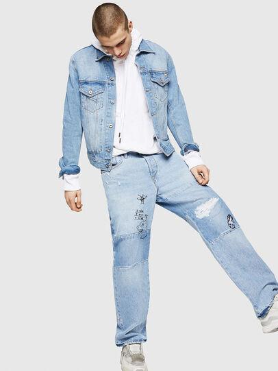 Diesel - D-Kodeck 0078F, Bleu Clair - Jeans - Image 6