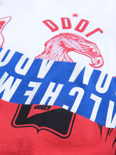 Diesel - TJUSTA1, Blanc/Rouge/Bleu - T-shirts et Hauts - Image 3