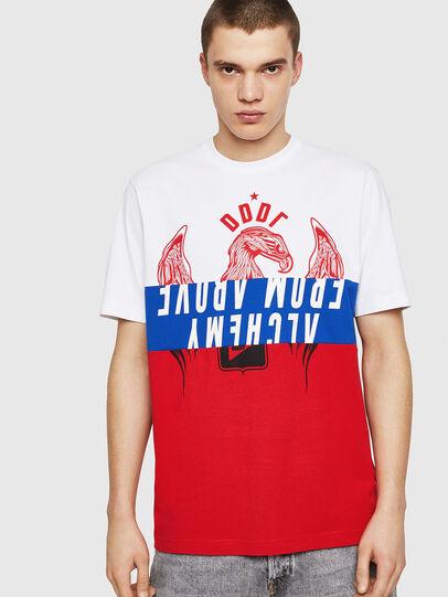 Diesel - T-JUST-A1, Blanc/Rouge/Bleu - T-Shirts - Image 1