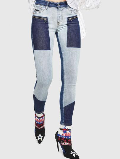 Diesel - Slandy Zip 0890L, Bleu moyen - Jeans - Image 1