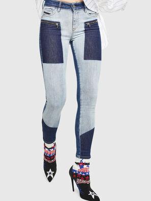 Slandy Zip 0890L, Bleu moyen - Jeans