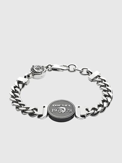 Diesel - BRACELET DX1090, Gris argenté - Bracelets - Image 1