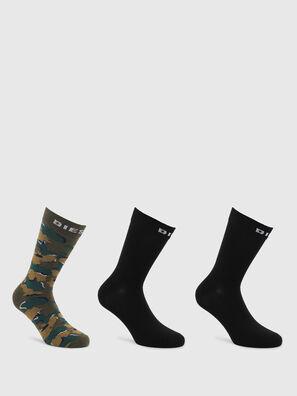 SKM-RAY-THREEPACK, Noir/Vert - Chaussettes