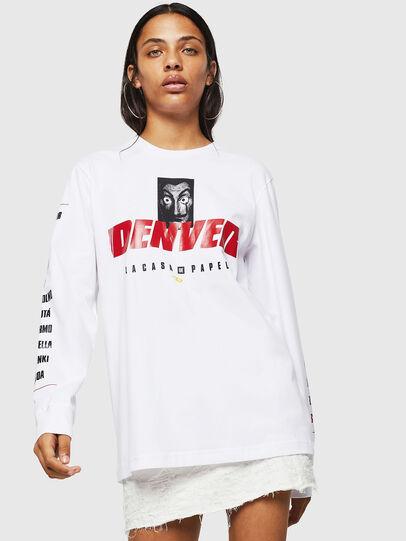 Diesel - LCP-T-JUST-LS-DENVER, Blanc - T-Shirts - Image 2