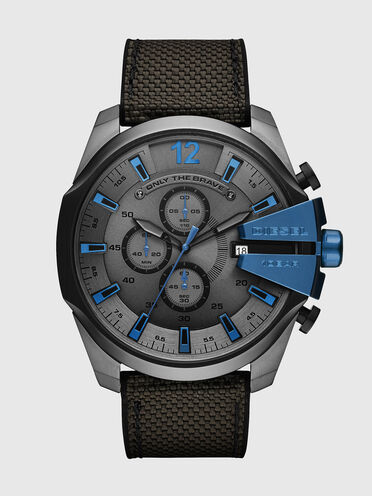Mega Chief montre chronographe noire et grise