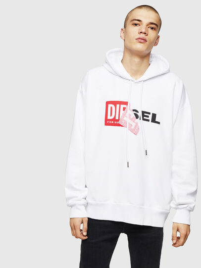 Diesel - S-ALBY, Blanc - Pull Cotton - Image 1