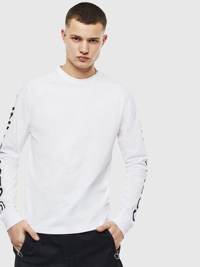 Diesel - T-JUST-LS-T14, Blanc - T-Shirts - Image 1