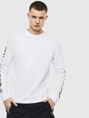 T-JUST-LS-T14, Blanc - T-Shirts