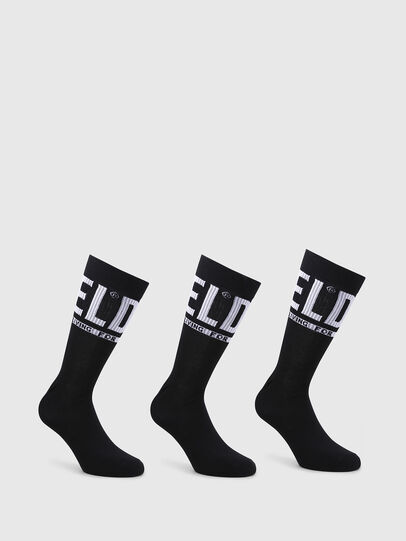 Diesel - SKM-RAY-THREEPACK, Noir - Chaussettes - Image 1