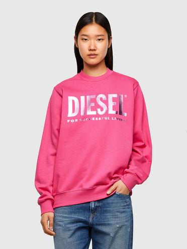 Sweat-shirt en coton molletonné à logo